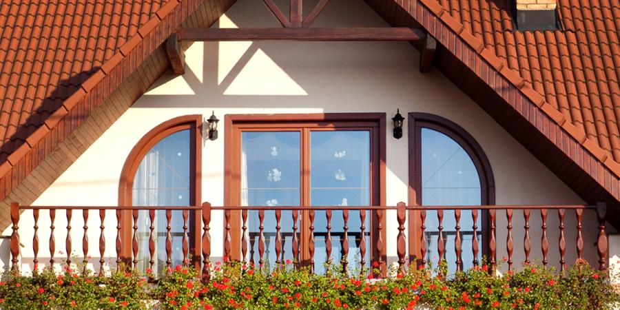 Balkonóvá zostava drevených eurookien<br> Autor: UNISTOL, s.r.o., Veľké Ludince