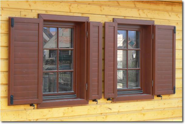 Drevené eurookná s okenicami <br> Autor: KOCHAN trade s.r.o.,Spišská Nová Ves