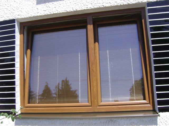 Plastové okno s dekorom dreva<br> Autor: OKNA MARTIN s.r.o., Dlhé Klčovo